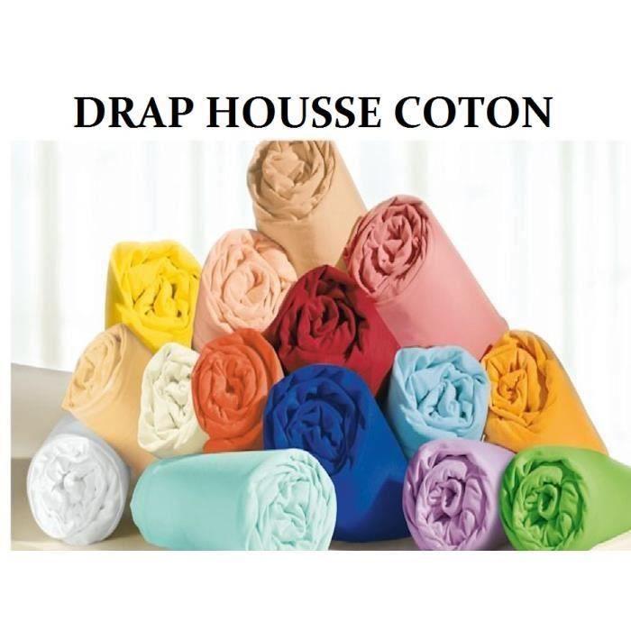 Drap housse 160x200 parme 100 coton achat vente drap - Drap housse coton 160x200 ...