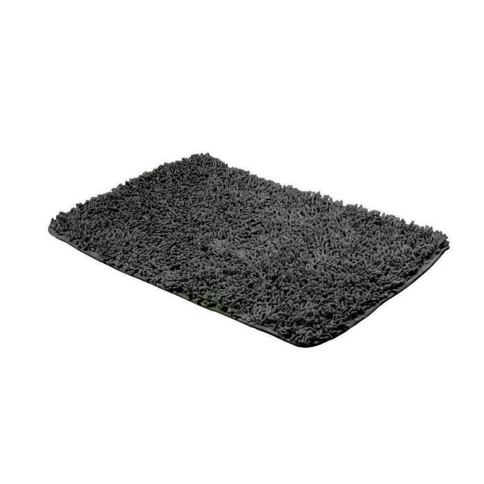 Tapis De Bains Chenille Coton Noir 50x80 Cm Achat Vente Tapis De Bain Cadeaux De No L