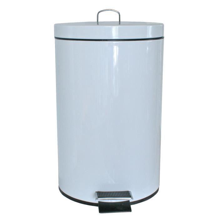 poubelle p dale blanche achat vente poubelle corbeille poubelle p dale blanche. Black Bedroom Furniture Sets. Home Design Ideas