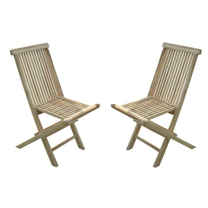 jalang lot de 2 chaises pliantes en teck achat vente chaise longue transat jalang lot de 2. Black Bedroom Furniture Sets. Home Design Ideas