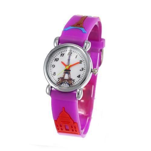Montre enfant tour eiffel bracelet violet achat vente montre cdiscount - Prix montee tour eiffel ...