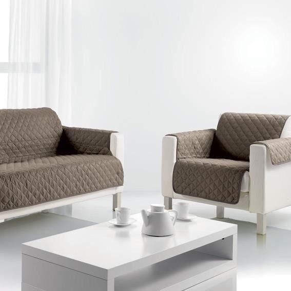 prot ge canap 3 places caf cr me achat vente housse de canape cdiscount. Black Bedroom Furniture Sets. Home Design Ideas