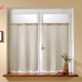 kaolin passe tringle 55x120 la paire achat vente. Black Bedroom Furniture Sets. Home Design Ideas