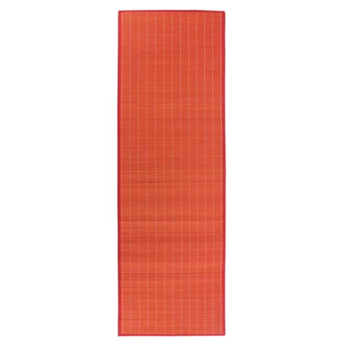 Tapis Bali Chic Rouge Bambou 200x65cm Achat Vente Tapis Cdiscount