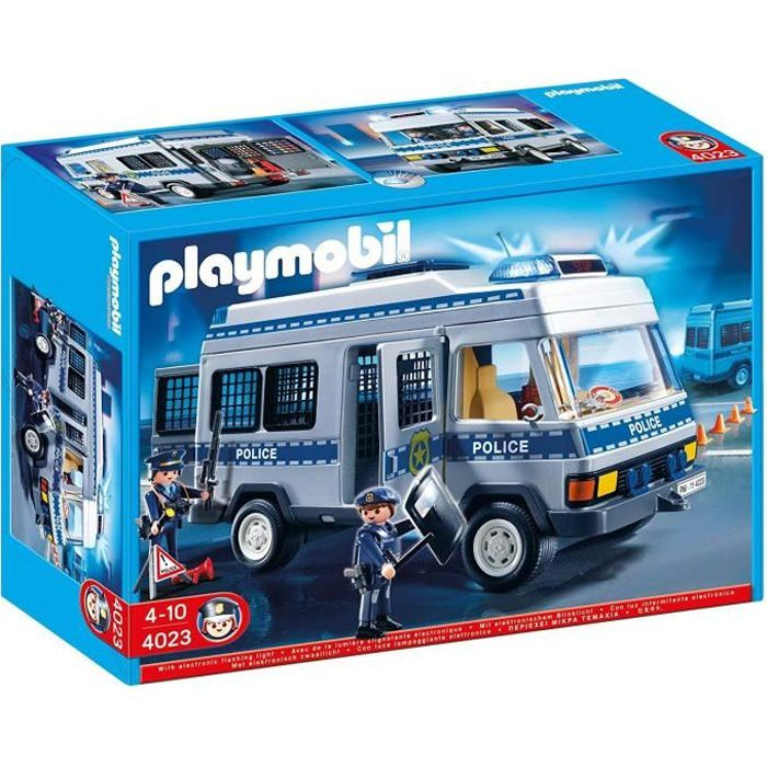 Playmobil 4023 fourgon equip et policiers achat vente univers miniature soldes cdiscount - Playmobil camion police ...