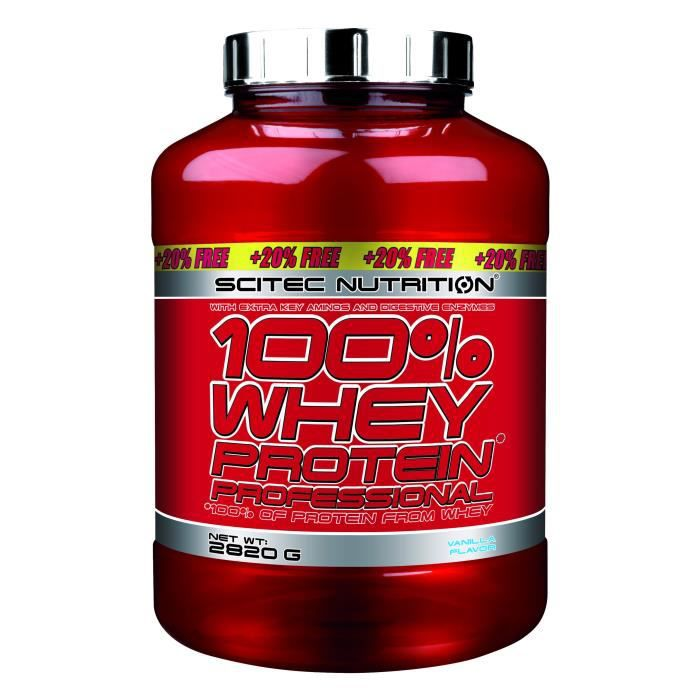 100 whey protein professional 2820g vanille edition 20 offert musculation achat vente. Black Bedroom Furniture Sets. Home Design Ideas