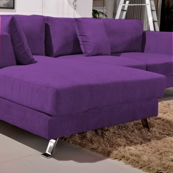 canap d 39 angle plumes cine citta violet achat vente. Black Bedroom Furniture Sets. Home Design Ideas