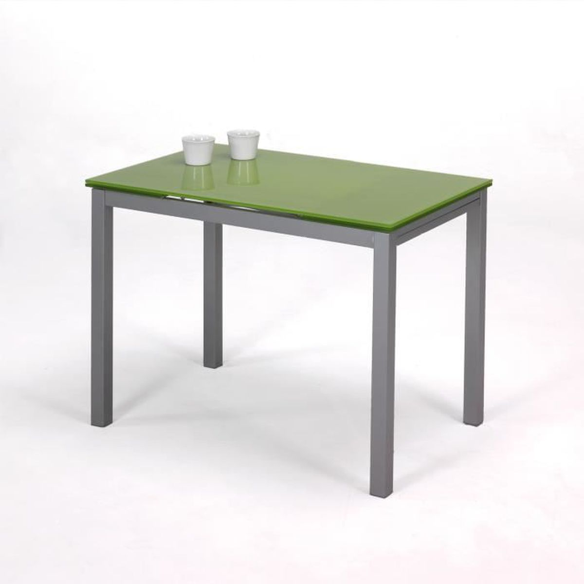 Table extensible avec ailes vert achat vente console for Meuble avec table extensible