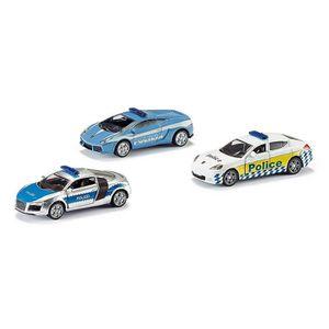 SIKU Coffret Véhicule de Police 3 Pi ces Véhicule Miniature