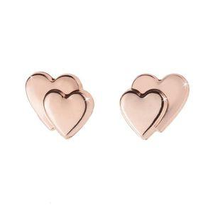 Boucle d'oreille Or Rose 9 carats Double Coffret cadeau boucles d'o