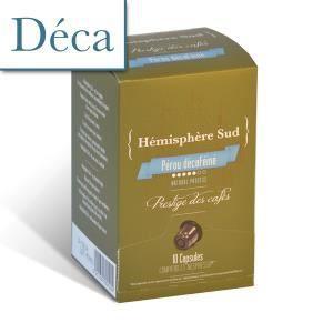 CAFÉ - CHICORÉE Pérou décaféiné à l'eau - 10 capsules Nespresso