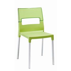 CHAISE Chaise verte et translucide verte - DIVA vendu …
