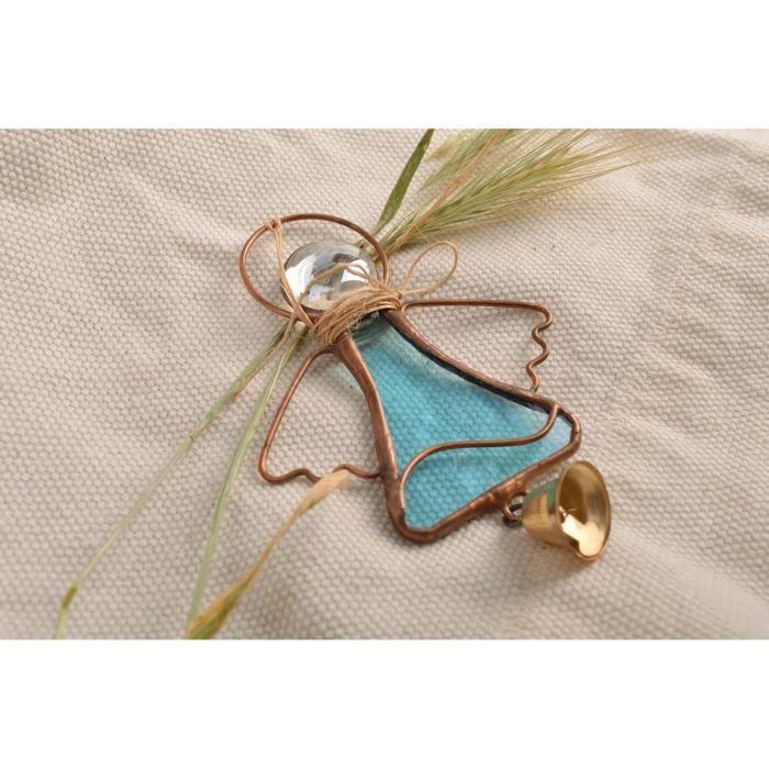 Petit objet en vitrail suspendre en forme d ange achat for Objets decoratifs maison