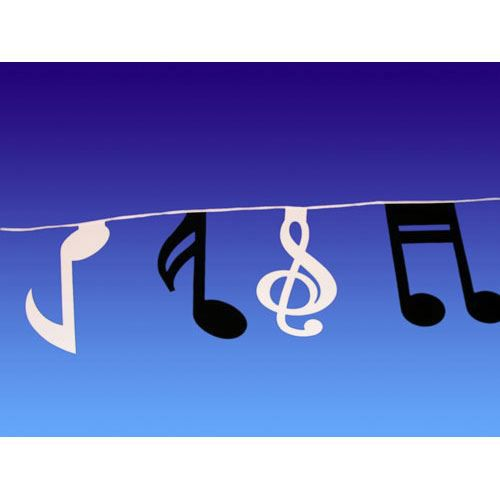 Guirlande papier notes de musique 15 fanions 5m achat for Decoration murale note de musique