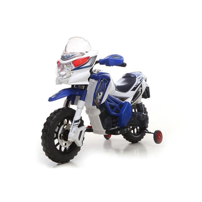 6v moto lectrique motocross pour enfant bleue achat vente moto scooter cdiscount. Black Bedroom Furniture Sets. Home Design Ideas