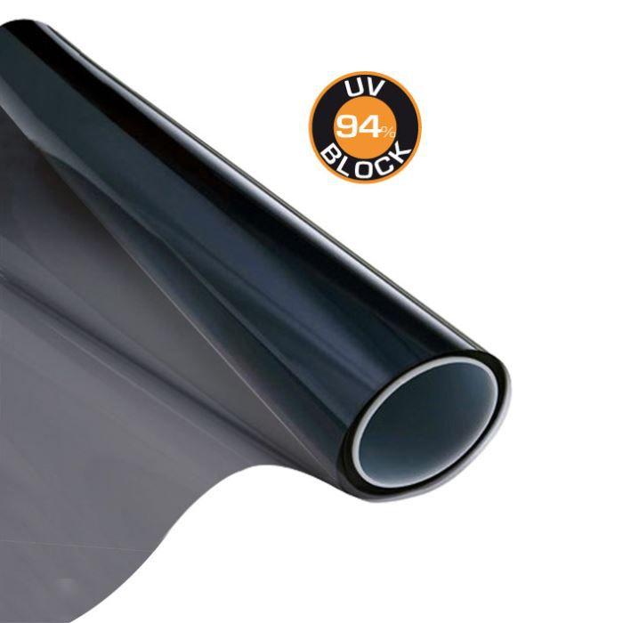 film solaire noir 76x152cm pour lunettes arri r achat vente pare soleil film solaire noir. Black Bedroom Furniture Sets. Home Design Ideas
