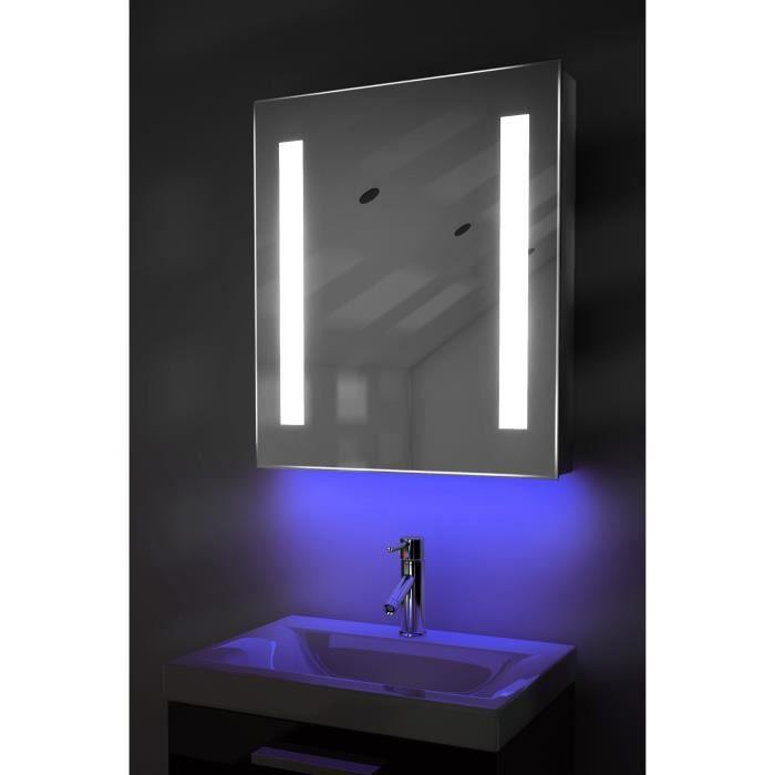 Armoire miroir ambiant de salle de bain capteur et for Taille d une salle de bain