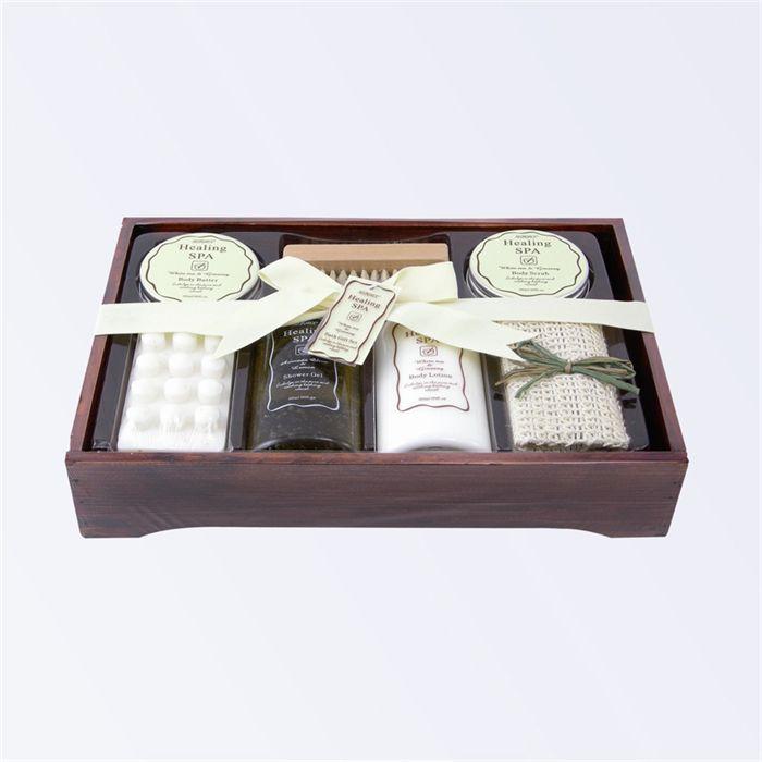 coffret de bain en bois collection healing spa achat vente coffret cadeau corps coffret bain. Black Bedroom Furniture Sets. Home Design Ideas