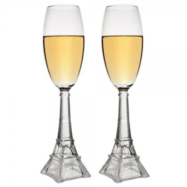 Coffret de 2 flutes tour eiffel achat vente verre for Chaise longue tours