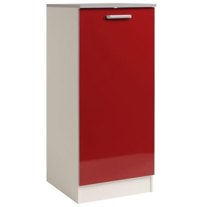 Paris prix armoire de cuisine 60cm shiny rouge achat for Meuble de cuisine prix