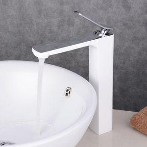 mitigeur lavabo blanc achat vente mitigeur lavabo blanc pas cher cdiscount. Black Bedroom Furniture Sets. Home Design Ideas