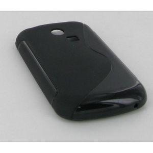 COQUE - BUMPER Coque Samsung chat 335 s3350 bimatière noire