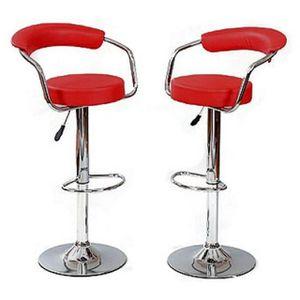 tabouret de bar rouge x 2 retro coiffeur achat vente tabouret de bar soldes cdiscount. Black Bedroom Furniture Sets. Home Design Ideas