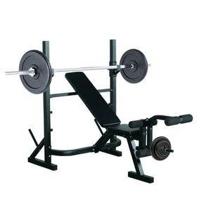 Station banc de musculation multifonction avec support d halt re ajustable ch - Station de musculation pas cher ...