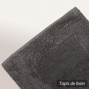 tapis de bain gris anthracite achat vente tapis de bain gris anthracite pas cher les. Black Bedroom Furniture Sets. Home Design Ideas