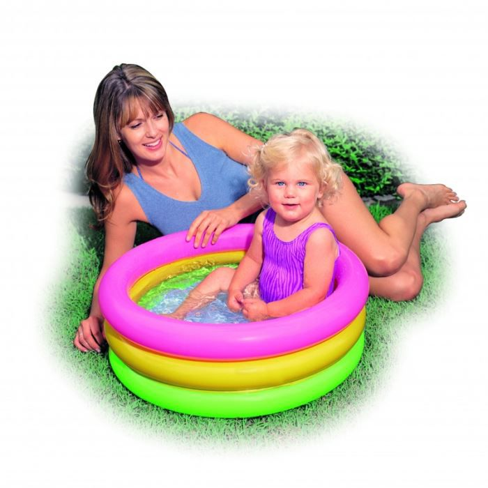Piscine baby pool 3 boudins 61 x 22 cm achat vente for Petite piscine gonflable bebe