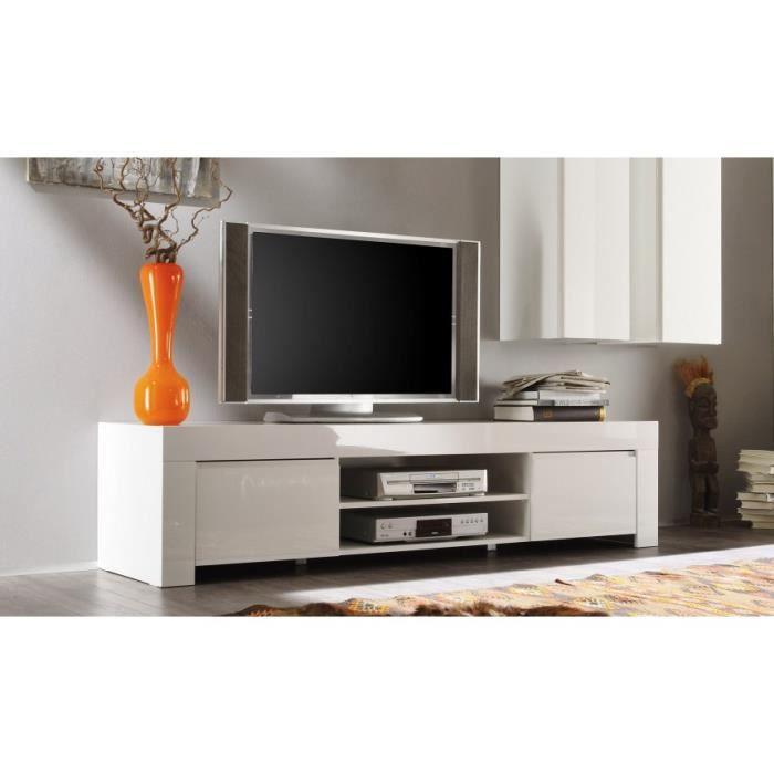 Meuble Tv Laqu 190cm Panamera Couleur Gris A Achat