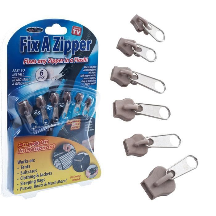 comment réparer zipper