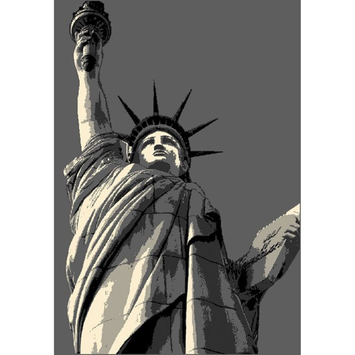 Tapis pas cher statue de la liberte gris 200x29 achat vente tapis cade - Statue exterieur pas cher ...