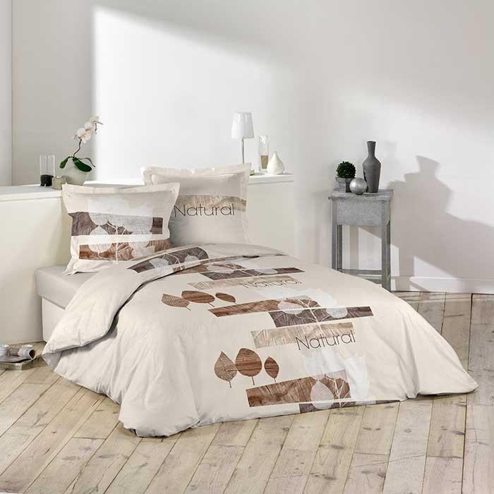 parure de couette 100 coton 42 fils 260x240 forestier. Black Bedroom Furniture Sets. Home Design Ideas