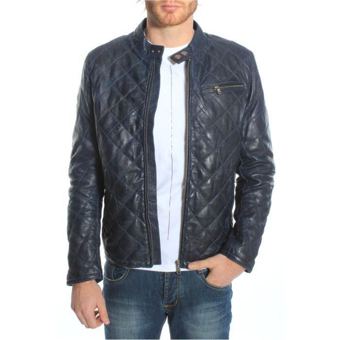 veste redskins en cuir hamilton bleu achat vente veste veste redskins en cuir hami. Black Bedroom Furniture Sets. Home Design Ideas