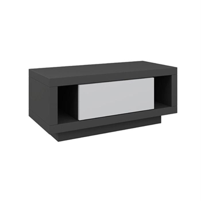 Varic m anthracite clapet blanc achat vente meuble hifi integree varic m - Meuble tv anthracite ...