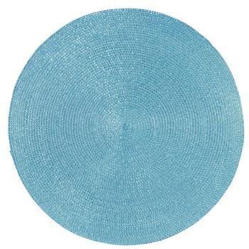Set de table rond turquoise achat vente set de table for Set de table rond