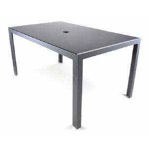 table jardin avec trou parasol achat vente table jardin avec trou parasol pas cher cdiscount. Black Bedroom Furniture Sets. Home Design Ideas