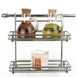 Etagere Credence Double Metal Chrome Achat Vente