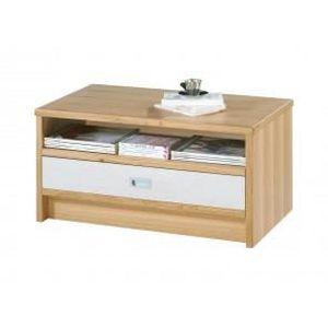 Table basse blanc rouge achat vente table basse blanc - Table basse chene naturel ...