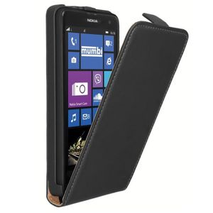 HOUSSE - ÉTUI Etui en cuir PU pour Nokia Lumia 625, NOIR + 1 …