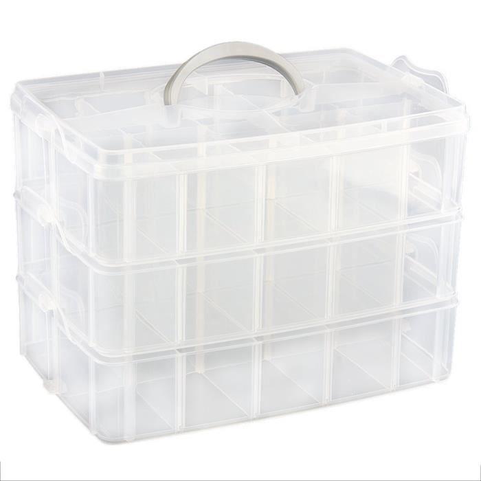 Boite de rangement plastique 30 chambre r glable achat - Boite de rangement ikea plastique ...