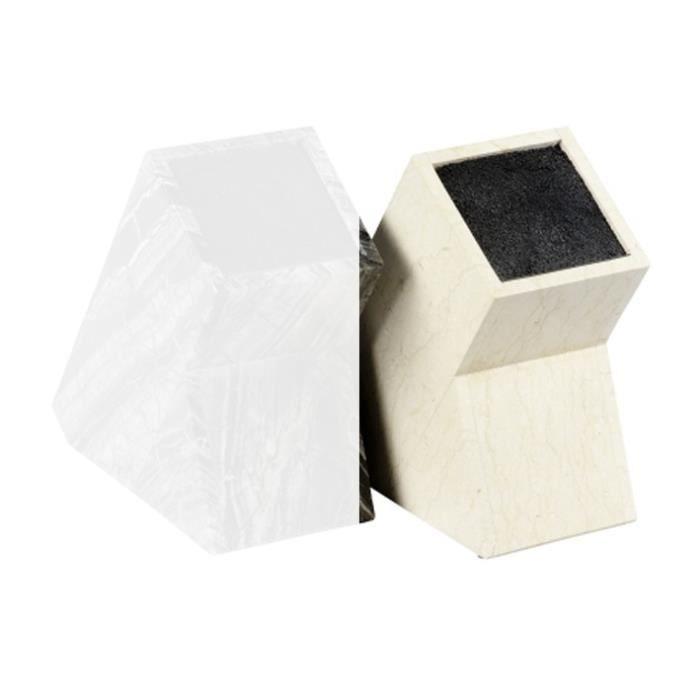 bloc pour couteaux en marbre blanc achat vente set accessoire cuisine bloc. Black Bedroom Furniture Sets. Home Design Ideas