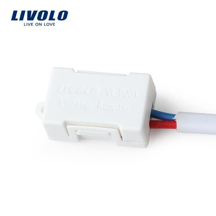 adaptateur plastique blanc pr low puissance lampe led vl pj01 achat vente ampoule led. Black Bedroom Furniture Sets. Home Design Ideas