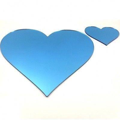 Napperons et sous verres bleus coeur miroir achat for Miroir 40x150