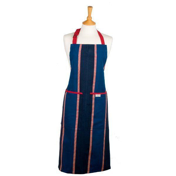 Tablier de cuisine bleu et rouge long zaika achat - Model tablier de cuisine ...
