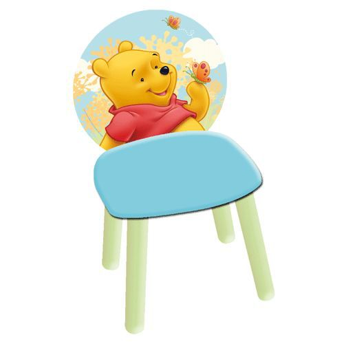 Chaise winnie l ourson en bois table de lit a roulettes - Table et chaise winnie l ourson ...