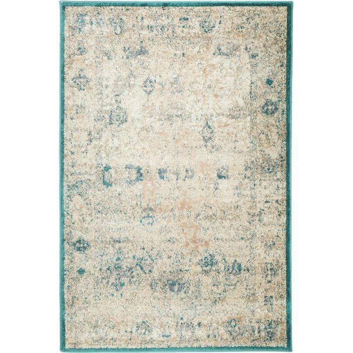 benuta tapis rossini antique bleu 200x285 cm achat vente tapis cdiscount. Black Bedroom Furniture Sets. Home Design Ideas