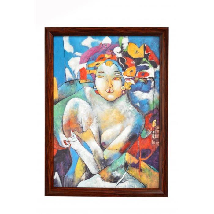 Liste d 39 anniversaire de lena u toiles prix top moumoute - Peinture abstraite coloree ...