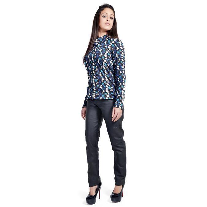 pantalon femme tissus enduit cou noir achat vente pantalon cdiscount. Black Bedroom Furniture Sets. Home Design Ideas